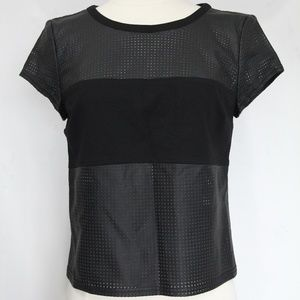 Guess Faux Leather Shirt sz Small Black
